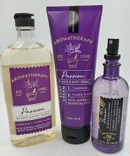 Bath & Body Works Passion Shower gel , body cream & pillow mist set