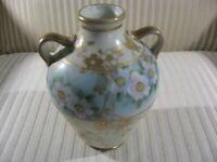 Antique Nippon Porcelain Floral Hand Painted Vase Morimura Family