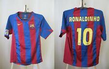 BOYS FC Barcelona #10 Ronaldinho 2004/2005 home Sz XL Nike shirt jersey maillot