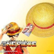 Anime One Piece Monkey D Luffy Cosplay Hat Straw Boater Beach Hat Cap Halloween