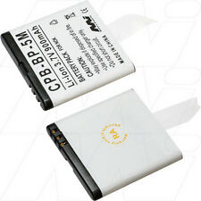 3.7V 900mAh Replacement Battery Compatible with Nokia BP-6MT