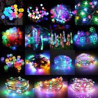 10-300 LED RGB Colorful Christmas Party String Fairy Light Solar/Battery/DC/Plug