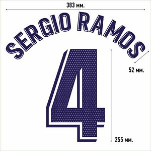 Sergio Ramos 4. Real Madrid Home football shirt 2020 2021 FLEX NAMESET NAME SET