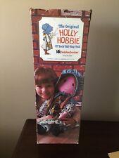 "Holly Hobbie Large Cloth Rag Doll 27"" Knickerbocker - With Box Look"