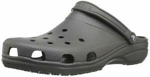 Crocs Men's Shoes Classic Closed Toe Slip On Slippers, Slate Grey, Size 12.0 qbq