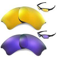New Walleva Polarized 24K Gold + Purple Lenses For Oakley Flak Jacket XLJ