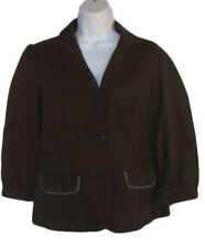 TOMMY HILFIGER Size S Brown Linen/Cotton Jacket NWT $69