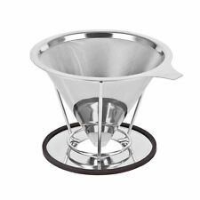 Cup Coffee maker Dripper  Filter Stainless Steel Reusable Drip Cone Microfilter