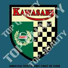 VINTAGE CASTROL KAWASAKI DECAL STICKER SUIT MOTO MOTORCYCLE DECALS STICKERS