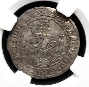 ITALY, Naples. Charles d'Anjou. 1285-1309. Silver Gigliato. NGC AU53