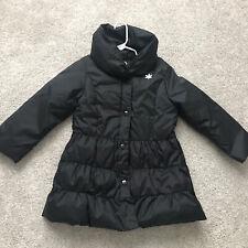 Gymboree girls black snap front parka coat size Small 5-6 yrs EUC