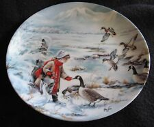 """1990 Sharing 8-1/2"""" Collector Plate 1st/Series Edwin M Knowles China Geese Ducks"""