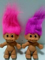 """Russ Troll Dolls 3"""" Original Packaging With Foot Sticker Vintage Old Nude Naked"""