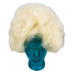Forum Novelties Deluxe Afro Wig 65432 Mixed Blonde Hair Theatrical Costume New