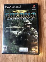 Socom U.S Navy Seals 3 PS2 Sony PlayStation 2 Game H2