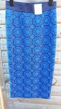 M&S ladies lace skirt royal blue uksize 8-bnwt