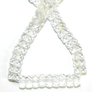 """CR466 Crystal AB 8mm Faceted Fire-Polished Rondelle Czech Glass Beads 16"""""""