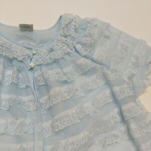 Vintage Nylon St Michael double layer babydoll open front dressing gown sissy