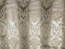 Medallion Cream Flame Retardant Chenille Fabric Curtain Upholstery