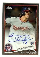 2014 Topps Chrome Rookie Autograph #62 Zach Walters Nationals RC Auto