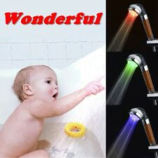 LED Shower Head Magic Negative Ion Filter Chlorin With Water Temperature Control