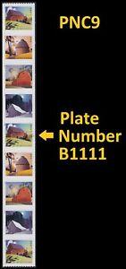 US 5550-5553 5553a Barns postcard rate PNC9 B1111 MNH 2021