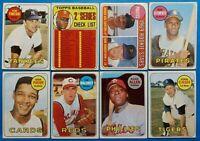 Vintage 1969 Topps BASEBALL old baseball cards 16-card HOF/Star Lot Clemente #50