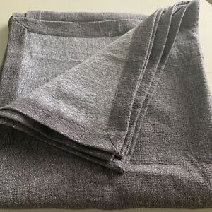 Restoration Hardware Esme Cotton-Linen Coverlet, Fog(Dk Grey)-Full/Queen, $259