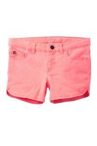 Hurley Big Girl's Size 8 Bright Pink Twill Shorts Short Pants NWT