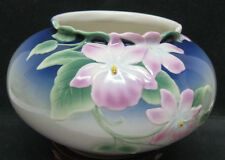 Franz Porcelain SCULPTURED FLORAL VASE May Wei Xuet-Mei XP1900 法蓝瓷手工绘彩花瓶