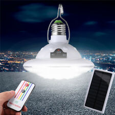 22LED Outdoor/Indoor Solar Lamp Hooking Camp Garden Lighting Bulb Remote Control