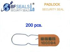 Plastic Padlock A Security Seal Eco 200 Pcs Orange Numbered And Barcode Bfs