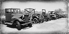 Old Trucks in Ghost Town Vintage Classic Truck Photo Print CA-0970