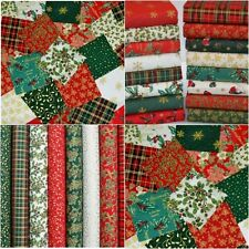 Christmas Fabric Scraps 20 Pcs Bundle 100 Cotton off Cuts Remnants Traditional