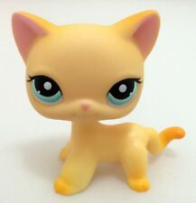 Littlest Pet Shop Lps #339 Yellow Short Hair Kitty Animals Cat Kid Hasbro Toy G