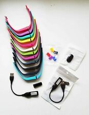 FITBIT FLEX TRACKER ~ 12 MULTICOLORED WRISTBANDS ~ 2 CHARGERS ~DONGLE ~BUNDLE