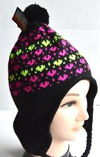 c816f62ff7a Womens Mens Unisex Yellow Heart Patterned Black Nepal Hat Winter
