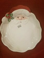 """Christmas Santa Plate"" Santa Plate hand painted 10"" high"