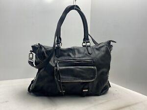 Steve Madden Extra Large Black Crossbody Shoulder Bag Purse Zipper Accent