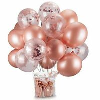 Rose Gold Foil Balloon Set Helium Confetti Birthday Wedding Party Love Decor  HA