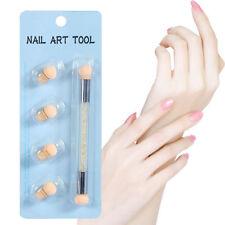 Double Tête Nail Art Éponge Pinceau en Faux Diamant Accessoires Ongles Mode
