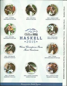 2015 - AMERICAN PHAROAH Haskell Stakes program in MINT Condition
