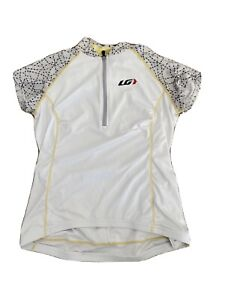 Louis Garneau White/yellow Gray Cycling Short-Sleeve Jersey Floral Womens S