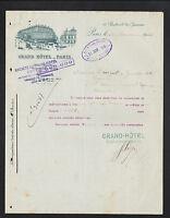 PARIS (IX° Arrt.) GRAND HOTEL en 1925