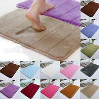 Absorbent Soft Memory Foam Mat Bath Bathroom Bedroom Floor Shower Rug Decor US
