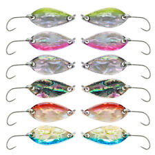 Goture 12pcs Spoon Fishing Lures 2.8g 4g Metal Jig Casting Stream Bass Trout