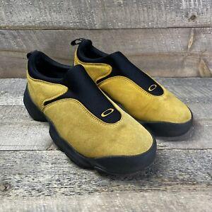 RARE Oakley Flesh Mens Slip On Shoes Hiking Walking Suede Loafer Vintage Sz. 9.5