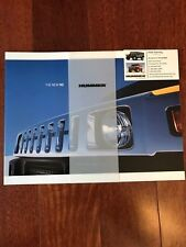 2003 Hummew H2 Two Types Sales Brochure and Accessories Catalog Collectble