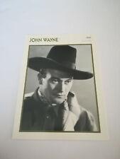 John Wayne 1 - Fiche cinéma - Portraits de stars 13 cm x 18 cm