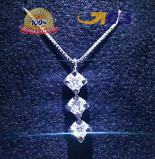 Collana trilogy oro bianco 18 kt e diamanti naturali 0,45 ct  Super OFFERTA
